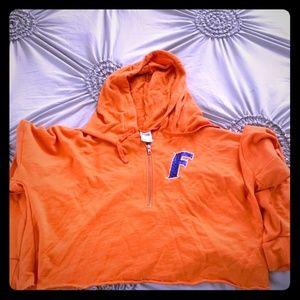 Pink by VS quarter zip hooded crop jacket